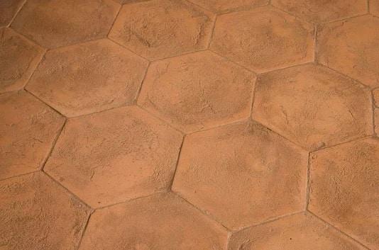 Sanded handmade terracotta tiles